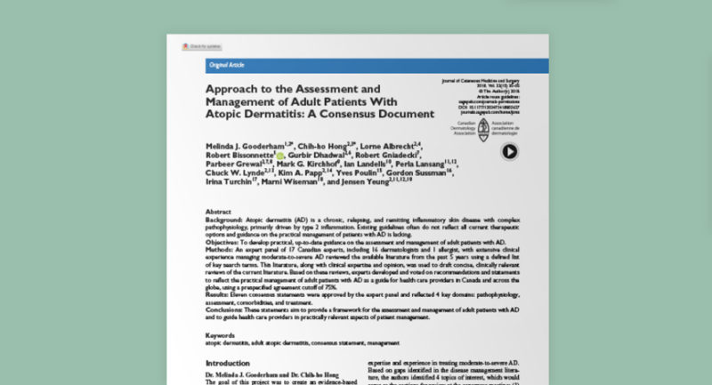 Approach to the Assessment and Management of Adult Patients with Atopic Dermatitis: A Consensus Document (2018)